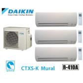 Daikin inverter Trisplit reversível 3MXS68G + 2 + CTXS15K 1CTXS35K