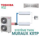 Ensemble Twin Toshiba MURAUX KRTP SDI R32 monophasé