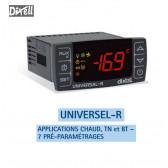Régulateur Universel-R4 pour remplacement de régulateurs réfrigération ou chaud, avec 7 pré-programmes de Dixell