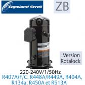 Compresseur COPELAND hermétique SCROLL ZB26 KCE-PFJ-551