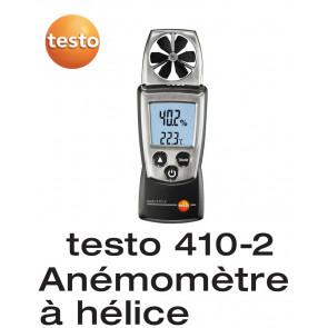 Anemômetro Vane com medição de umidade integrado e NTC termômetro Testo 410-2