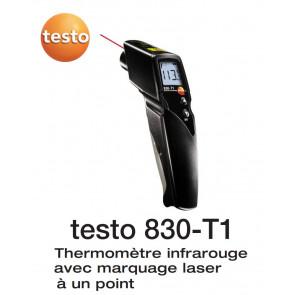 Termômetro Infravermelho Testo 830-T1 com 1 ponto de mira laser, óptica