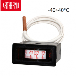 Thermomètre rectangulaire à capillaire ARTHERMO ROF 88