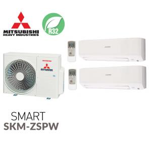 Mitsubishi Heavy Industries Bi-split SMART SCM50ZS-W + 2 SKM25ZSP-W