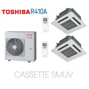 Toshiba Cassette 4 Voies 600 x 600 SMUV Bi-Split RAS-3M26S3AV-E + 2 RAS-M13SMUV-E