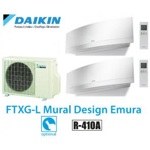 Daikin Bisplit inverter reversible 2MXS50H + 2 FTXG25LW - WIFI inclus