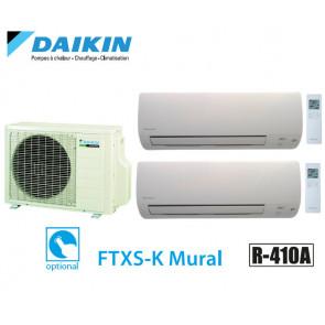 Daikin Bisplit inverter reversible 2MXS50H + 2 FTXS25K