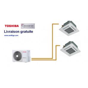 Toshiba Cassette 4 voies 600 X 600 BIsplit RAS-M18UAV-E + 2 RAS-M10SMUV-E