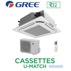 GREE Cassete U-MATCH 600x600 UM CST 12 R32