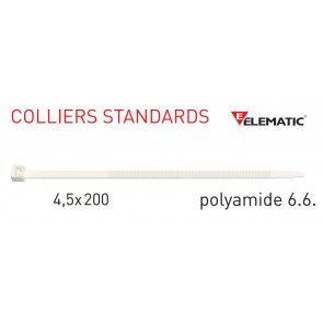 "Colliers de câblage standard Naturel 200x4,5 mm de ""Elematic"""