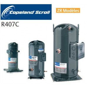 Compresseur Scroll Copeland - Modèles ZR- R407C - raccord Rotalock