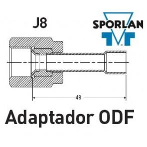 """Adaptateur ODF pou Corps de détendeurs J8 sans buses """"Sporlan"""""""