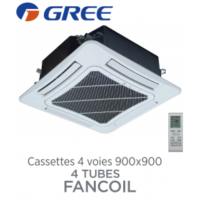 Cassettes 4 voies 900x900 batterie 4 tubes FANCOIL CST 4C80 de Gree