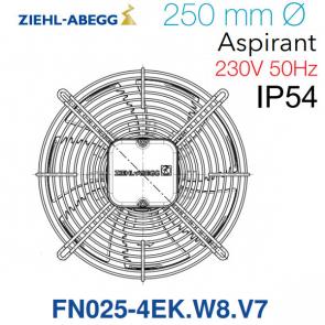 Ventilateur hélicoïde FN025-4EK.W8.V7 de Ziehl-Abegg