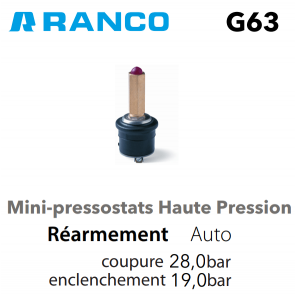 "Pressostato mini ""RANCO"" BP G60-H1115650"