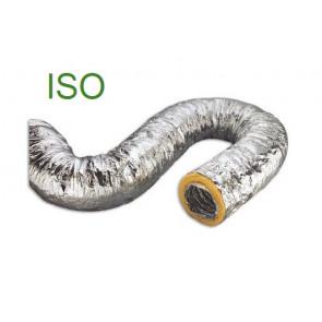 Gaine souple de ventilation en aluminium avec isolement en fibre de verre 10 m Ø 102mm