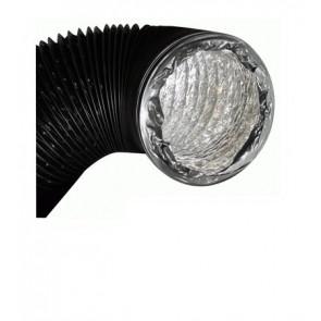 Duto de ventilação flexível de alumínio e PVC de 10 Mts - Ø127 Mm