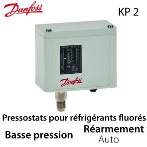 Pressostat simple automatique BP - 060-112066 - Danfoss