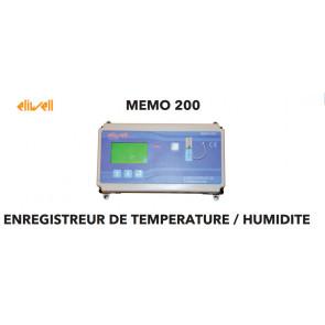 Enregistreur de température et d'humidité MEMO 200 de Eliwell