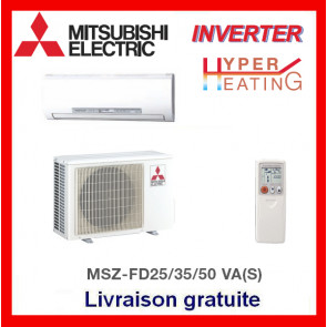 Mural réversible Inverter de luxe Mitsubishi MSZ-FD25VABH(S)