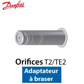 Orifice pour détendeur T 2/TE 2 Adaptateur à braser nº 01 Code 068-2091 Danfoss