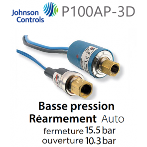 "Pressostato ""JOHNSON CONTROLS"" P100AP-3D"