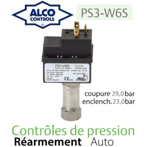 Contrôle de pression à point de consigne fixe PS3-W6S Alco Controls