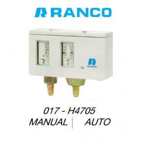 """Pressostato duplo manual/auto """"Ranco"""" 017H4705"""
