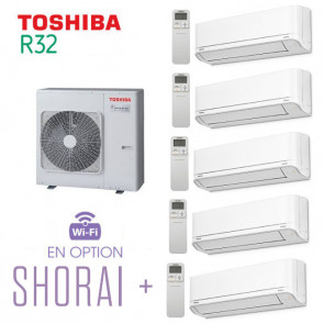 Toshiba SHORAI + 5-Split RAS-5M34U2AVG-E + 4 RAS-B07J2KVSG-E + 1 RAS-B16J2KVSG-E
