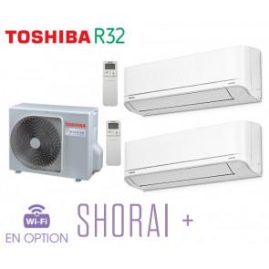 Toshiba SHORAI + Bi-Split RAS-2M18U2AVG-E + 1 RAS-B07J2KVSG-E + 1 RAS-B13J2KVSG-E