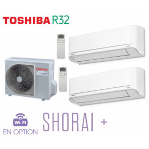 Toshiba SHORAI + Bi-Split RAS-2M14U2AVG-E + 2 RAS-B07J2KVSG-E