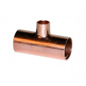 Té de redução em cobre