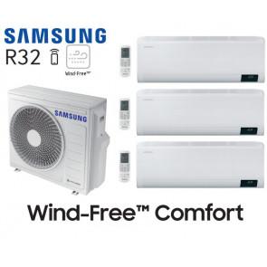 Samsung Wind-Free Comfort Tri-Split AJ068TXJ3KG + 2 AR07TXFCAWKN + 1 AR12TXFCAWKN