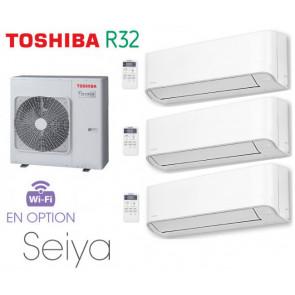 Toshiba Seiya Tri-Split RAS-3M26U2AVG-E + 2 RAS-B07J2KVG-E + 1 RAS-B13J2KVG-E