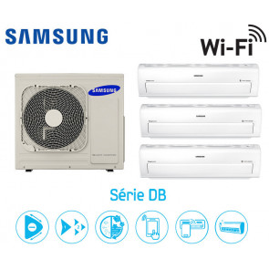 Samsung Série DB Tri-Split AJ068FCJ3EH + 2 AR07KSPDBWKN + 1 AR12KSPDBWKN