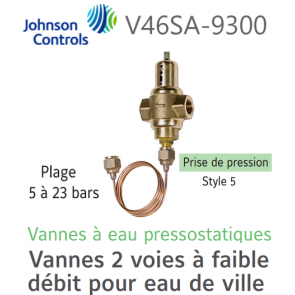 Vanne à eau pressostatique V46SA-9300 Johnson Controls
