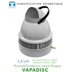 Humidificateur centrifuge 1,5 L/H -  VAPADISC 707MAX de Teddington