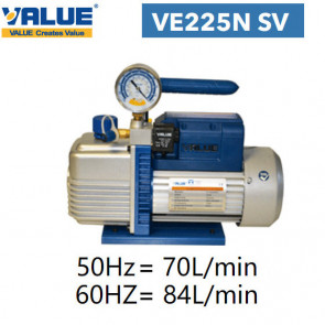 Pompe à vide double étage avec vacuomètre VE225N SV