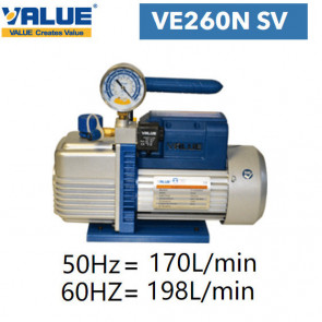 Pompe à vide double étage avec vacuomètre VE260N SV