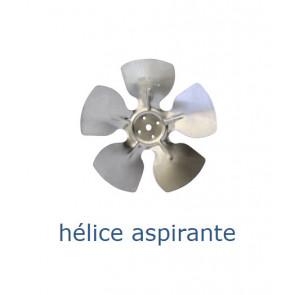 Hélice aluminium 154 mm - 26º - aspirante