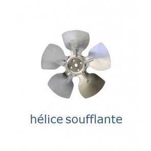 Hélice aluminium 250 mm - 28º - soufflante