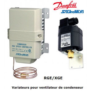 Régulateurs de vitesse pour ventilateur de condenseur XGE/RGE de Danfoss
